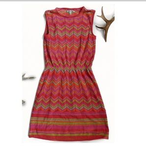 ANTHROPOLOGIE Multicolored Lined Knit Dress